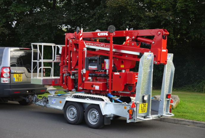 CMC S15 spiderlift on trailer video