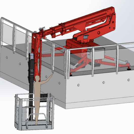Ruthmann Bluelift SA11P Tracked Spiderlift with removable job. goods elevator mewp